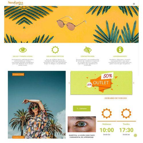 Diseño Web suróptica Aljaraque