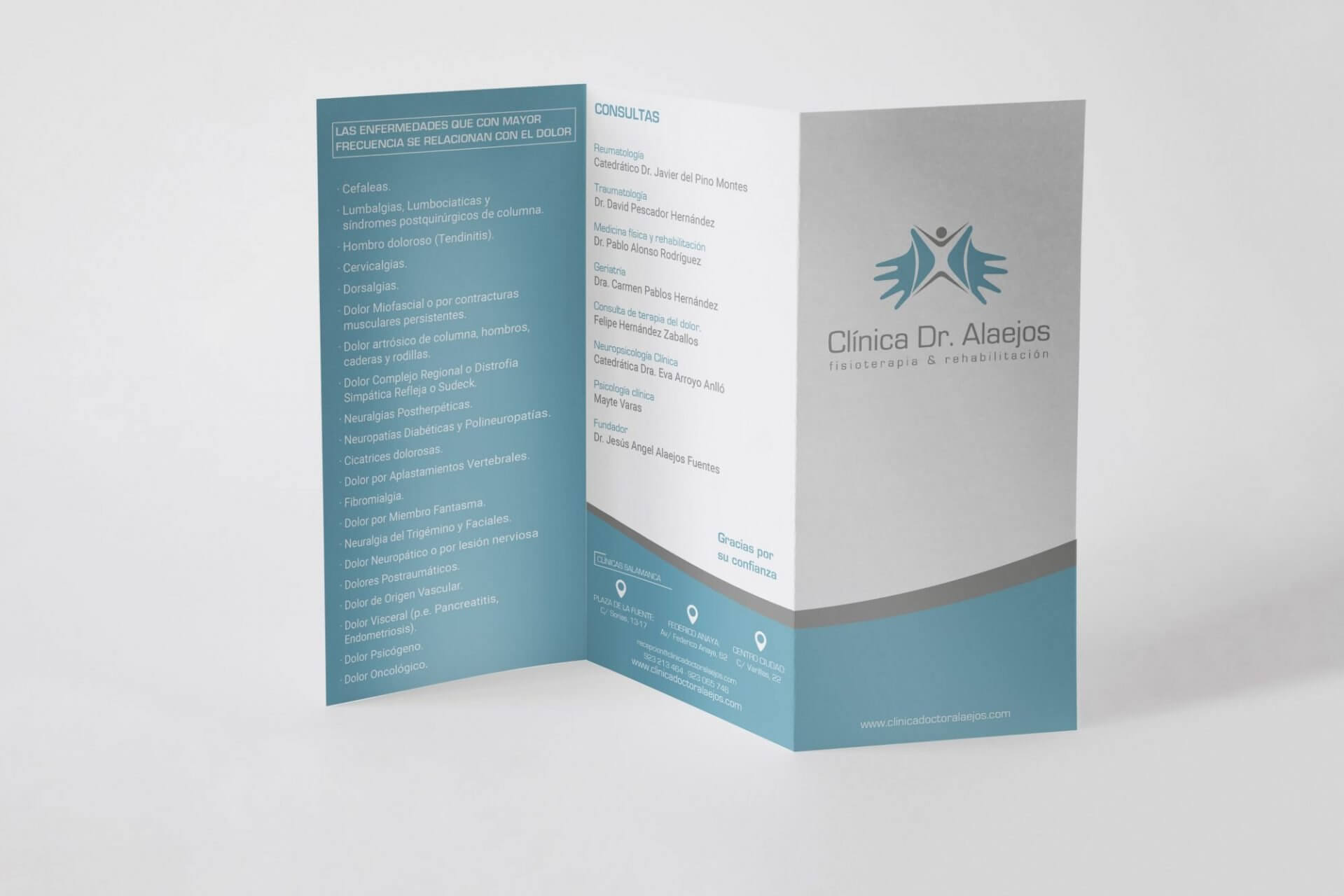 Diseño gráfico clinica Dr. Alaejos